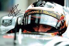 Stoffel VANDOORNE SIGNED Autograph F1 McLAREN Driver Helmet Photo AFTAL COA