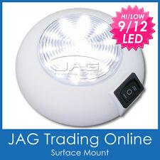 12V 9/12 LED WHITE MARINE CABIN DOME LIGHT - Boat/Caravan/Interior/4x4/RV Lamp