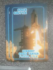 vintage SPACE SHUTTLE, KENNEDY SPACE CENTER plastic coated playing cards