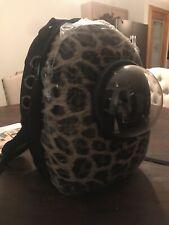 Cat / Dog Travel Backpack Leopard Print Pet Carrier