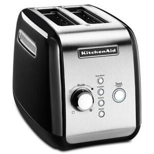 KitchenAid Classic Automatic 2 Slice Toaster Black 5KMT221AOB