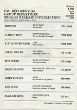 Steve Miller Bob Seger Little River Band Moon Martin John Rowles Flyer