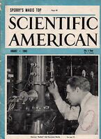 1943 Scientific American August-Elmer Sperry's Magic Top; Canadian oil; Galactic