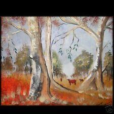 IMPRESSIONIST AUSTRALIAN LANDSCAPE  FINE ART LYNNE  Pickering  trees