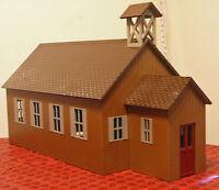 RED MTN SCHOOL HOUSE or CHURCH G 1:24 Model Railroad Styrene Structure Kit CMS17