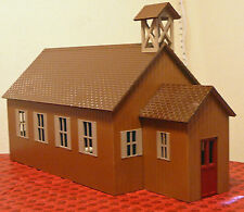 RED MTN SCHOOL HOUSE or CHURCH G 1:24 Model Railroad Styrene Structure Kit CMS17