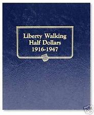 WHITMAN CLASSIC Liberty Walking Half Dollar 1916-1947 Album #9125