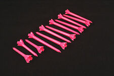 "Performance Plastic GOLF TEES Combo pack (2.75"" & 1.75"") LOT of 12 - NEON PINK"