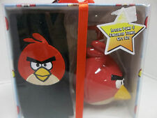 NEW ANGRY BIRDS RED SOAP LOTION PUMP DISPENSER FINGERTIP TOWEL WASH CLOTH