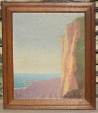 Küstenlandschaft Prosper Friob Maler Luxemburg ~1925 Jugendstil Öl Symbolismus