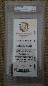 PSA 8 2016 Copa America Centenario Ticket (Full), Brazil, Ecuador, 6/4/2016