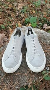 COMMON PROJECTS Achilles Low Gray Suede US size 12 / 45 EUR Made in Italy
