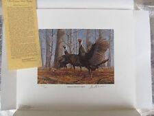 NWTF6   National Wild Turkey Fed. Print  w/stamp, foilo  Signed  #NWTF6XA10 DSS