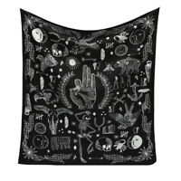 Wall Hanging Mandala Tapestry Gyan Mudra Eagle Witchy Día de Muertos Calavera