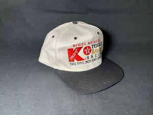 Vintage 1993 Nigel Mansell PPG Indy Car K-Mart Texaco Havoline Champion Hat