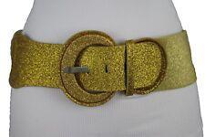 Hip High Waist Fashion Sparkling Glitter Gold Shiny Corset Holidays Belt XS S M