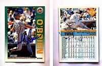 Charlie O'Brien Signed 1992 Fleer #514 Card New York Mets Auto Autograph