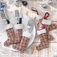 6 x Besteckhalter Stiefelchen für Weihnachten Weichnachtsdeko Tischdeko Deko