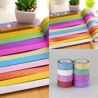 10Roll Glitter Glitzer Washi Masking Tape Sticker Klebeband Reispapier Band Deko