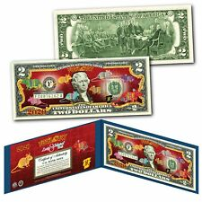 2020 CNY Lunar Chinese New YEAR OF THE RAT Polychromatic 8 Rats $2 U.S Bill BLUE