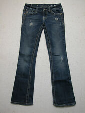 Miss Me 26 Cross in Pocket Stretch Boot Womens Distressed Jeans(Measure 28 x 31)