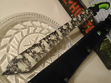 "Z-Hunter Undead Skulls Tanto Combat Machete Sword Knife 4 Snap Sheath 24"" OA 062"