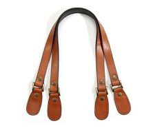 "byhands Genuine Leather Purse Handles, Bag Strap w/Crack Pattern, Tan, 23.8"""