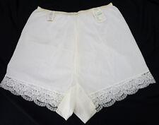 NOS Vintage Lorraine Ivory Wide Lace Hem Tap Panties NWT Deadstock 7 XL New