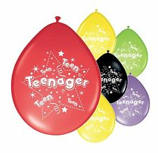 "10 x TEENAGER  BALLOONS 10"" TEENAGER MIX PARTY BALLOONS (PA)"