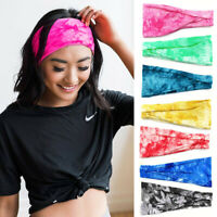 Ladies Women's Elastic Wide Headband Sports Yoga Gym Running Hair Band HOT