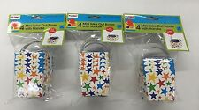 Mini Gift Boxes Take Out Boxes With Handle Stars 4ct Lot of 3 (New)