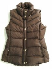 J. CREW Womens Brown Down Puffer Winter Vest Size Small S