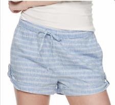 SO Linen Soft Shorts Blue Striped NWT Shortie Casual Juniors Sm Medium
