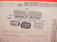 1950 1951 1952 MOTOROLA AM RADIO SERVICE MANUAL MODELS CHASSIS 2A 2M CHEVROLET
