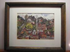 RARE: 1976 Signed Carl Johnson Offset Lithograph Art Print Of Galena,  IL.