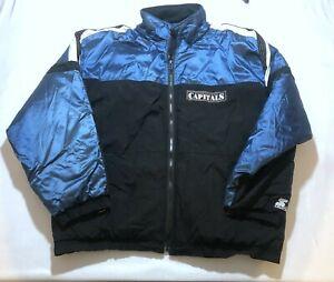 Vintage Washington Capitals Starter 90s NHL Windbreaker Zip Filled Jacket Sz XL
