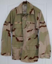 USAF Desert Storm Camo Field Jacket W/Patches Sz Small Reg FREE SHIP