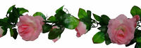 Rose Garland MANY COLORS Wedding Arch Gazebo Decor Silk Flowers Centerpieces