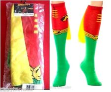 Robin Cape Knee High Sock Authentic DC Comics Batman SUPERHERO socks OFFICIAL
