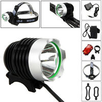 Rechargeable 5000Lm CREE XML T6 LED Bicycle Lamp Bike Head Headlight+ Rear light