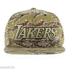New Mitchell & Ness NBA Snapback Hat - Los Angeles Lakers Desert Camo Gradiant