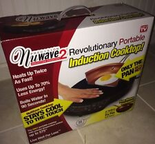 "NuWave 2 Induction Cooktop Portable Precision + Free 9"" Ceramic Fry Pan New Box"