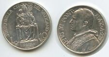 G1641 - Vatikan 10 Lire 1934-XIII KM#8 Silber Pius XI. 1922-1939  Vaticano