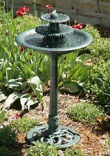 Cascading Bird Bath 3 Tier Water Fountain Antique Garden Yard Ornament Birdhouse