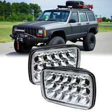 "Brightest 90W 7X6"" 5X7"" LED Headlight Hi/Low For Chevrolet Jeep Cherokee XJ Pair"