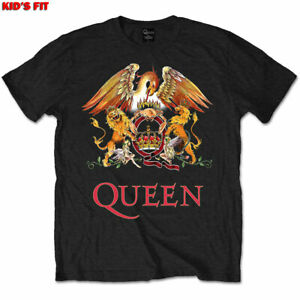 QUEEN Crest Kids Youth Unisex T-SHIRT NEW Official ages 1-12 CHOICE OF COLOR