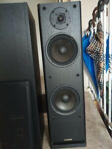 onkyo lautsprecher boxen schwarz Breite 22cm Länge 80 cm 120 W 4 OHM