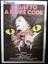 Manifesto 2 Fogli - Il gatto a nove code di Dario Argento, con Karl Malden