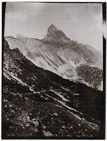 Zimbaspitze (Rhätikon) vom Weg zum Säulenjoch, Orig.-Photo um 1910