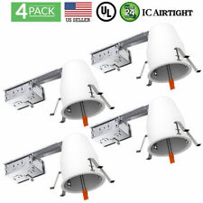 SUNCO 4PACK 4-INCH REMODEL CAN AIR TIGHT IC + UL HOUSING RECESSED LED LIGHTING
